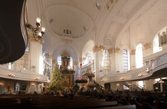 圣迈克尔教会在汉堡,德国 免版税库存照片