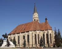 圣迈克尔教会在科鲁Napoca (罗马尼亚) 库存图片