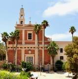 圣迈克尔教会在贾法角市,以色列 库存照片
