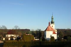 圣迈克尔教会在Sedlnice 免版税库存图片