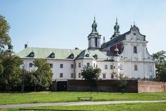 圣迈克尔教会天使和圣Stanislaus主教和受难者和波利娜父亲修道院, 库存照片