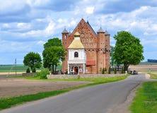 圣迈克尔教会天使在Synkovichi 迟来的 免版税库存照片