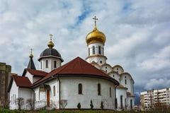 圣迈克尔教会天使米斯克,白俄罗斯 库存照片