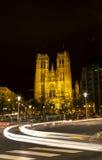 圣迈克尔的教会在布鲁塞尔比利时 库存图片