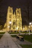 圣迈克尔的教会在布鲁塞尔比利时 免版税库存图片