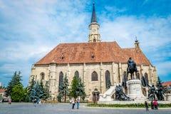 圣迈克尔的高耸,科鲁Napoca,罗马尼亚 免版税图库摄影