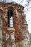 圣迈克尔被烧的教会在Stara锡勒,乌克兰 免版税库存照片