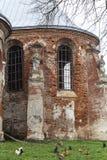 圣迈克尔被烧的教会在Stary锡勒,乌克兰 免版税库存图片