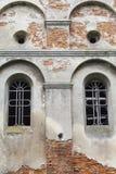 圣迈克尔被烧的XVII世纪教会在Stara锡勒,乌克兰 库存图片