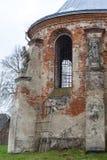 圣迈克尔被烧的XVII世纪教会在Stara锡勒 乌克兰 免版税库存图片