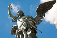 圣迈克尔雕象, Castel Sant'Angelo,罗马 库存照片