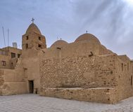 圣迈克尔,圣保罗修道院教会带状闪长岩,位于东部沙漠,在红海山附近,埃及 免版税库存图片