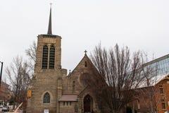 圣迈克尔` s主教大教堂是一个主教大教堂在博伊西,爱达荷,美国 免版税图库摄影