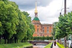 圣迈克尔` s塔设计城堡 免版税库存照片