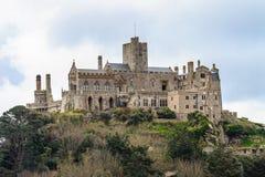 圣迈克尔´s挂接在Cornwall,英国 图库摄影