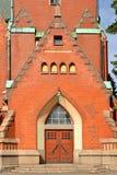 圣迈克尔` s教会是在中央图尔库位于的教会 它以天使s命名的`迈克尔和在1905年被完成了 入口 免版税库存图片