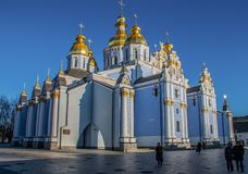 圣迈克尔` s金黄半球形的修道院,基辅 库存照片