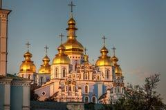 圣迈克尔` s金黄半球形的修道院 免版税库存图片