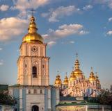 圣迈克尔` s金黄半球形的修道院 免版税库存照片