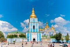 圣迈克尔` s金黄半球形的修道院 基辅,乌克兰 免版税图库摄影