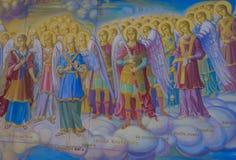 圣迈克尔` s金黄半球形的修道院 库存图片
