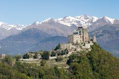 圣迈克尔Val di苏萨,托里诺,意大利的` s修道院 免版税库存图片