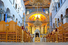 圣迪米特里奥斯教堂内部 免版税库存照片