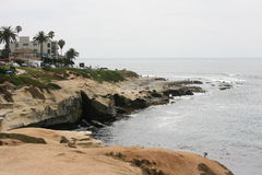 圣迭戈海岸线 免版税库存图片