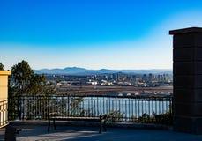 圣迭戈看法从罗斯克兰斯国家公墓的 图库摄影
