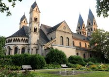 圣铸工大教堂在科布伦茨,德国 图库摄影