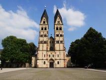 圣铸工大教堂在科布伦茨,德国 免版税库存图片