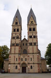 圣铸工大教堂-最旧的教会在科布伦茨, Germa 免版税库存照片