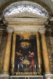 圣阿格尼丝在过去的圣诞老人Agnese 教会在Squ的中心 免版税库存照片