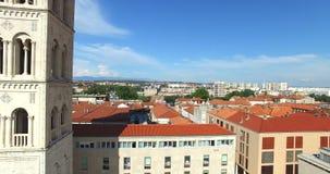 圣阿纳斯塔西娅和屋顶大教堂塔在扎达尔,克罗地亚 股票视频