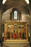圣障在圣尼古拉大教堂里 库存照片