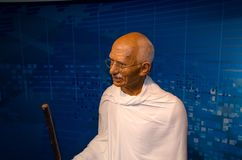 圣雄甘地在杜莎夫人蜡象馆博物馆在维也纳 库存图片