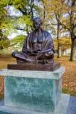 圣雄甘地在阿里纳公园,日内瓦,瑞士雕象  图库摄影