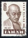 圣雄甘地由俄罗斯打印了 免版税库存图片