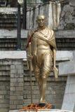 圣雄甘地雕象在西姆拉印度 免版税库存照片