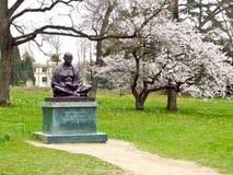 圣雄甘地雕象,日内瓦,瑞士 库存图片