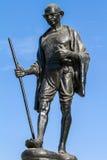 圣雄Gahdhi雕象在乌代浦,印度 库存图片