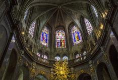 圣雅克教会,贡比涅,瓦兹省,法国 库存图片