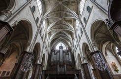 圣雅克教会,贡比涅,瓦兹省,法国 免版税库存图片