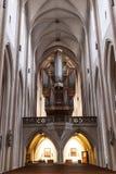 圣雅各布Rothenburg ob der的陶伯,巴伐利亚` s教会内部  免版税库存照片