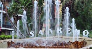 圣雷莫意大利受欢迎的喷泉  影视素材