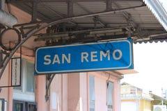 圣雷莫火车站 库存图片