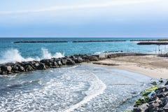 圣雷莫,意大利海岸  库存照片