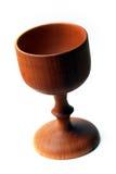 圣餐杯子圣洁木 库存照片