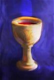 圣餐杯 免版税库存照片