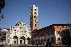 圣马丁大教堂在卢卡(托斯卡纳,意大利) 免版税库存图片